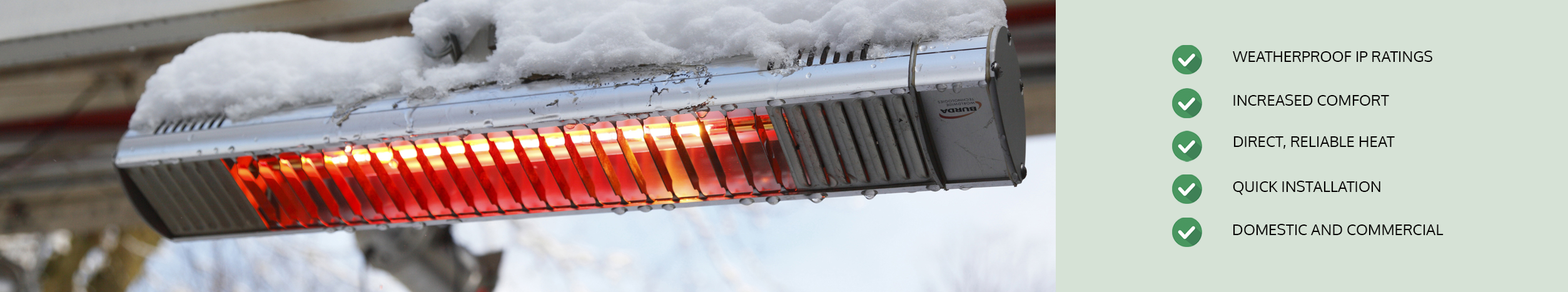 Infrared Heaters for Outdoors