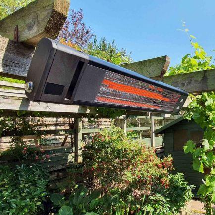 Ecostrad Apex Infrared Patio Heater - Black 1.8kw