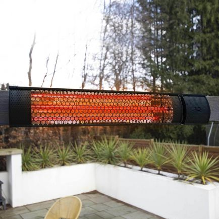 Ecostrad Sunglo Infrared Patio Heater - Black 2kW with Remote