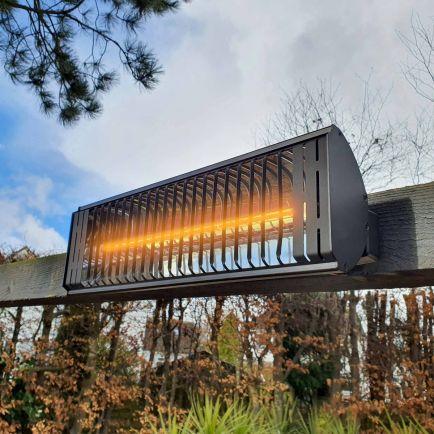 Ecostrad Heatglo Infrared Patio Heater - Black 2kW