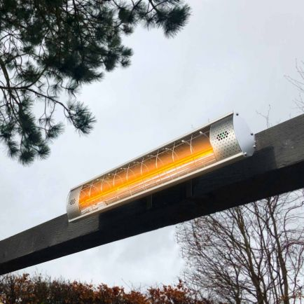Ecostrad Solaglo Infrared Patio Heater – Silver 2kW