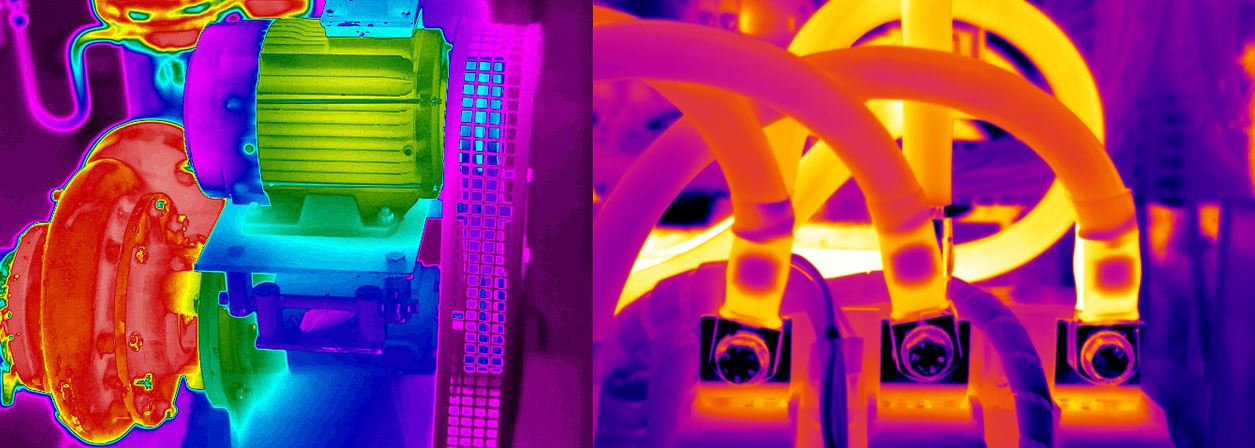 Thermograph of machinery