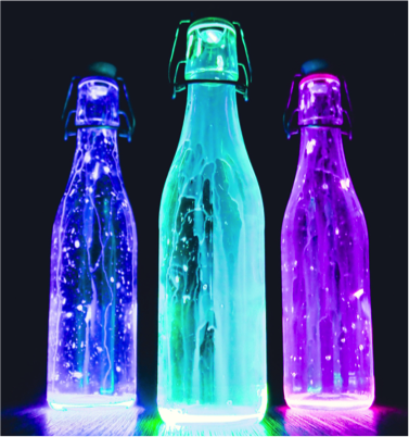 Glow in the dark bowling pins