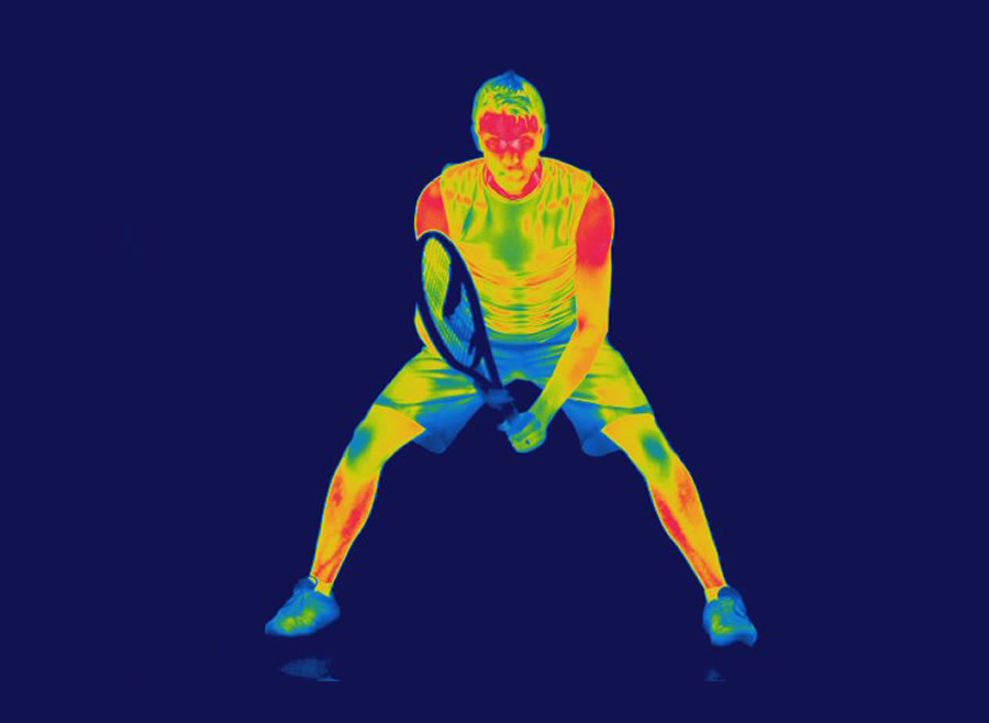 Thermograph of Tennis Player