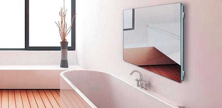 Infrarot Spiegelheizung im Bad