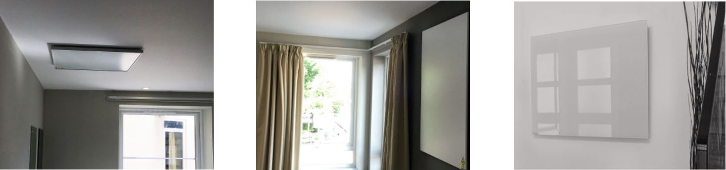 Infrared heating panels installed in student accommodation