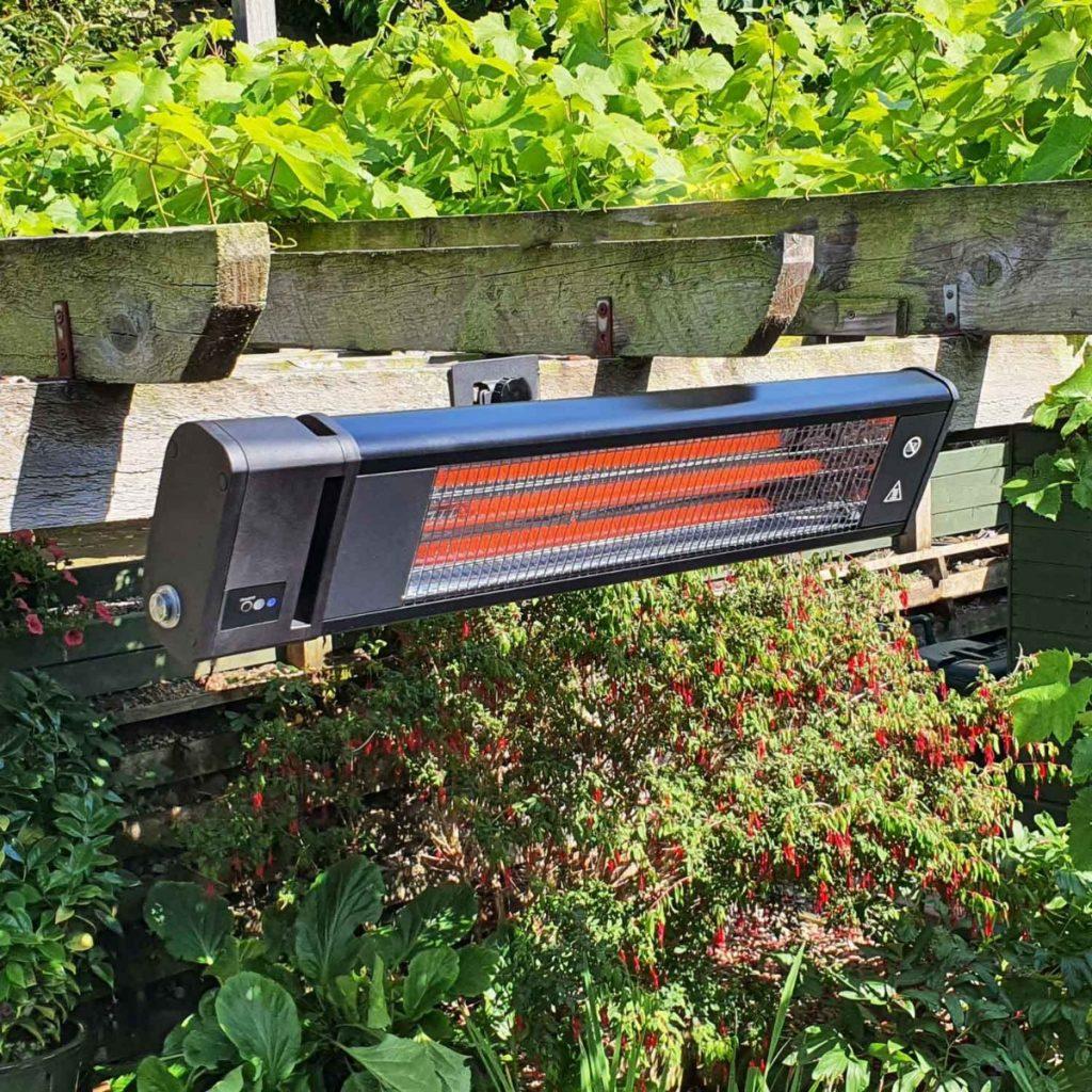 Ecostrad Apex Infrared Patio Heater Black 1.8kw with Remote