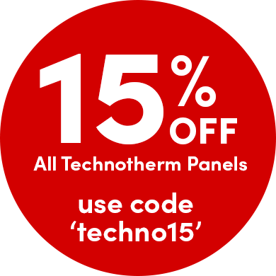 15% off all Technotherm panels
